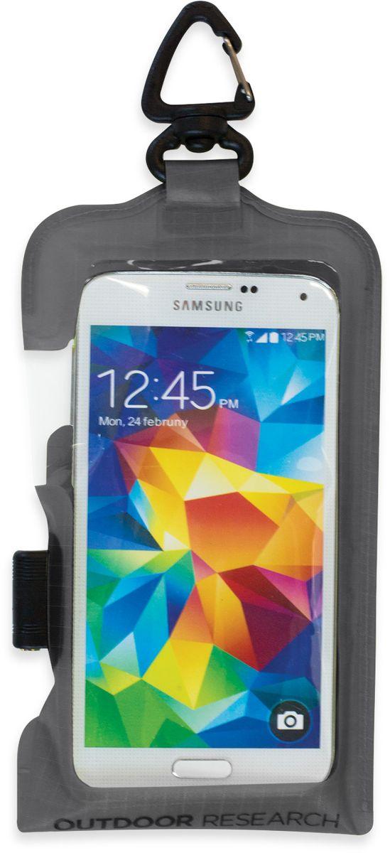 Гермочехол для электроники Outdoor Research Dry Pocket Premium Large, цвет: серый2440280890Полностью непромокаемый гермочехол для электроники Outdoor Research прекрасно защитит ваше устройство от намокания и грязи. Чехол выполнен из водонепроницаемого, легкого и прочного материала. Сенсорный экран позволяет пользоваться телефоном в любых экстремальных условиях. Имеется прозрачное окошко для внешней камеры и водонепроницаемый разъем под наушники. Дополнительные стропы и карабин для удобно крепежа устройства в любом месте, чтобы быстро добраться до него или избежать потери. Добавление материала EVA позволяет улучшить плавучесть чехла до 200 г веса. Подходит для iPhone 6 Plus/6S Plus, Galaxy Note 3, Galaxy Note 4.