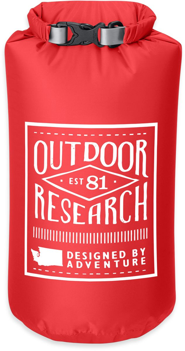 Гермомешок Outdoor Research Retro Dry Sack, цвет: красный, 5 л косметичка outdoor research lightweight dry sack 15