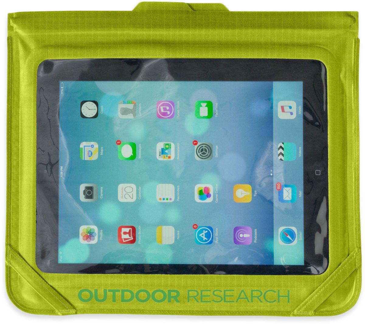 Гермочехол для планшета Outdoor Research Sensor Dry Envelope Medium, цвет: зеленый2501590489Полностью непромокаемый гермочехол для iPad Outdoor Research сохранит ваше электронное устройство от попадания влаги. Сенсорный экран позволяет пользоваться планшетом в любых экстремальных условиях. Чехол имеет герметичную застежку.