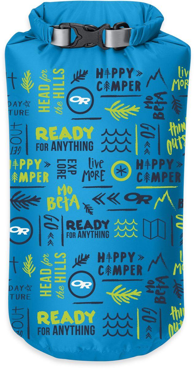 Гермомешок Outdoor Research Belief Dry Sack, цвет: голубой, 20 л2501700721Гермомешок Outdoor Research выполнен из облегченного, но прочного нейлона. Изделие исключает промокание благодаря водонепроницаемой пропитке. Технологичные свойства: - Закрывается скручиванием и фиксируется застежкой; - Водостойкий, прочный материал; - Проклеенные швы; - Внешняя дополнительная лента для крепежа и фиксации мешка; - Ручка для переноски. Малый вес и уникальные свойства делают этот туристический аксессуар необходимым в каждом путешествии или походе.