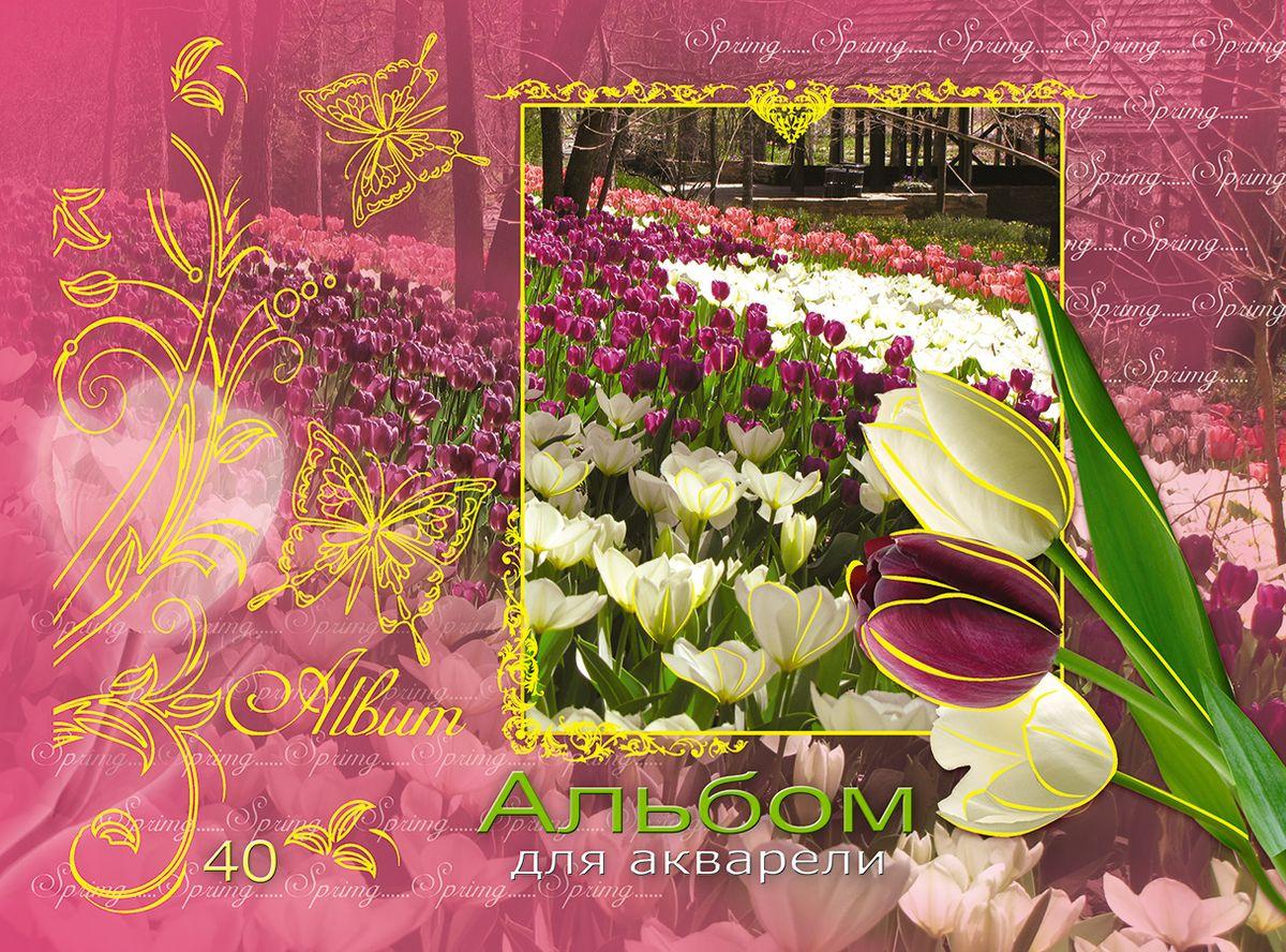 Альбом-планшет для акварели Апплика  Май , 40 листов -  Бумага и картон