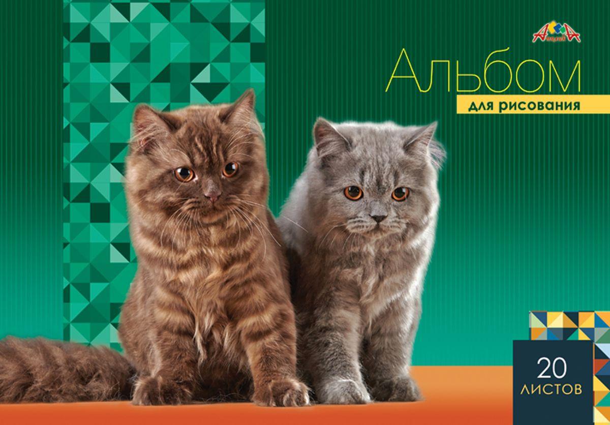 Апплика Альбом для рисования Два котенка 20 листов the art of kentaro nishino зайчики лицензия альбомы для рисования гребень 40 листов