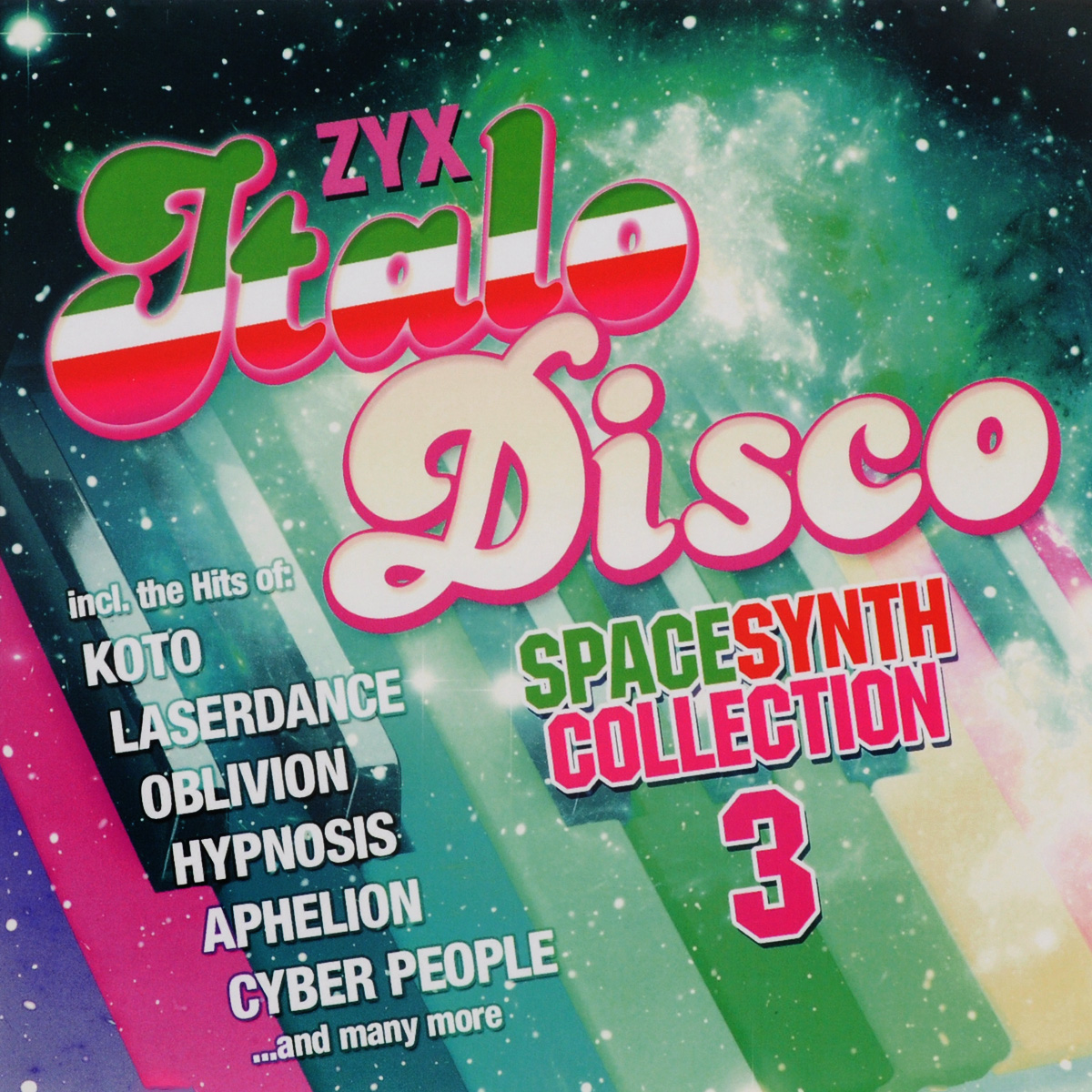 Laserdance,Steve Burbon,Aphelion,X-plosion,Spacequake,Blue Star Project,Ralph River Band,Cyber People,Man Machine Zyx Italo Disco. Spacesynth Collection 3 (2 CD) roxanne джо локвуд cyber people hypnosis tommy candy belle сюзанна милс italo disco collection 16 3 cd page 9