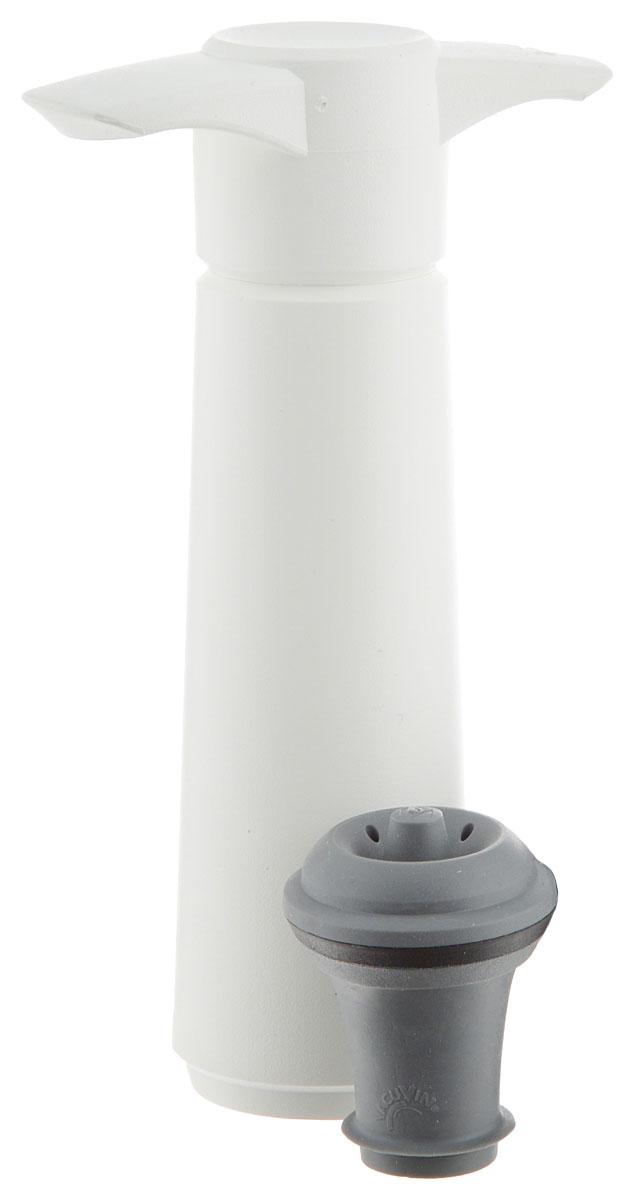 Насос вакуумный Vacu Vin Wine Saver, цвет: белый0854260_белыйВакуумный насос Vacu Vin Wine Saver предназначен для закупоривания открытых бутылок с вином. Многоразовые пробки из специальной пищевой резины, которыми укомплектован насос, позволяют плотно запечатать начатую бутылку вина. При помощи насоса Wine Saver из бутылки выкачивается воздух, поэтому процесс окисления вина приостанавливается. Вы сможете открывать и закрывать бутылку снова и снова, сколько угодно раз, и вино при этом не потеряет своего очарования.Wine Saver снабжен звуковым индикатором. Как только оптимальная степень вакуума достигнута, вы услышите небольшой щелчок. Это означает, что теперь вино находится в сохранности и бутылку можно убрать на хранение.Уникальный современный дизайн.В комплект входит одна многоразовая пробка.Звуковой индикатор.Внимание: насос не подходит для закупорки игристых вин!