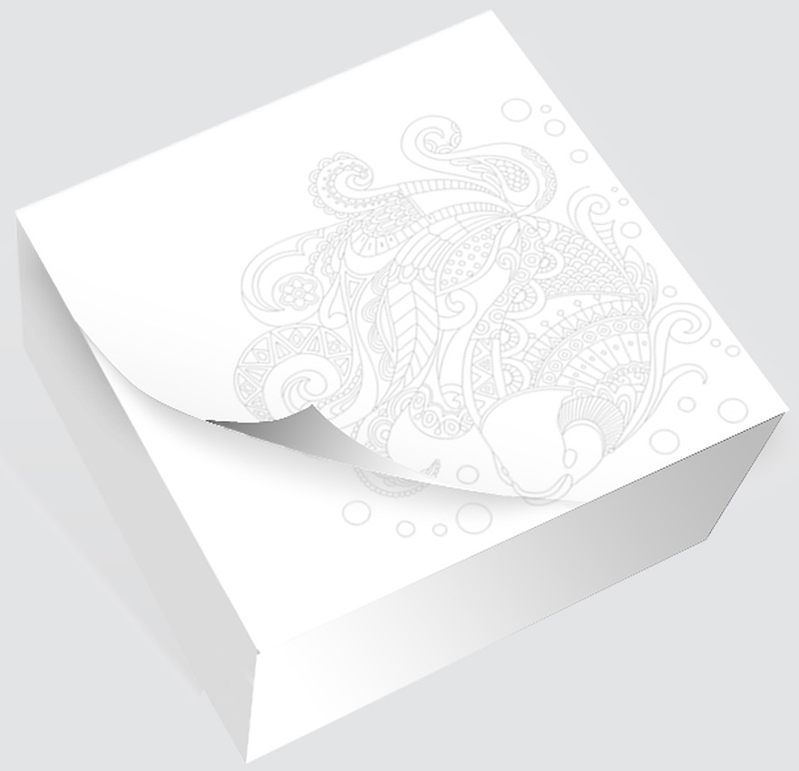 Фолиант Блок для записей Антистресс Рыбка 8,5 х 8,5 см 200 листовБКД-200БС/13Блок бумаги Фолиант Антистресс. Рыбка идеально подходит для быстрой фиксации информации.Блок бумаги изготовлен на картонной подложке, листы проклеены по торцу. Благодаря специальной проклейки, листы блока не рассыпаются. Порядок на столе гарантирован. Специальноподобранныйрисунокантистрессна листке блока, помогает справиться с усталостью и стрессом на работе. Особенности: - наличие картинки антистресс;- листы склеены в блок.