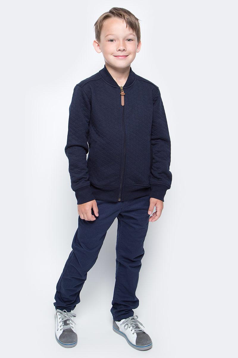 Куртка для мальчика Sela, цвет: темно-синий. Stc-813/177-7310. Размер 122, 7 летStc-813/177-7310Кардиган для мальчика Sela выполнен из высококачественного материала. Модель с длинными рукавами застегивается на застежку-молнию. Кардиган спереди дополнен двумя втачными карманами.