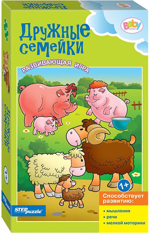 Step Puzzle Пазл для малышей Дружные семейки развивающая игра пазл маша и медведь 4 элемента
