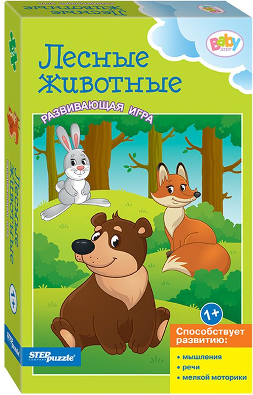 Step Puzzle Пазл для малышей Лесные животные