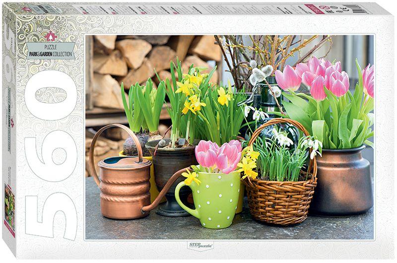 Step Puzzle Пазл Весенние цветы