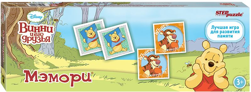 Step Puzzle Обучающая игра Медвежонок Винни игры для малышей step puzzle настольная игра кубик пазл медвежонок винни пух