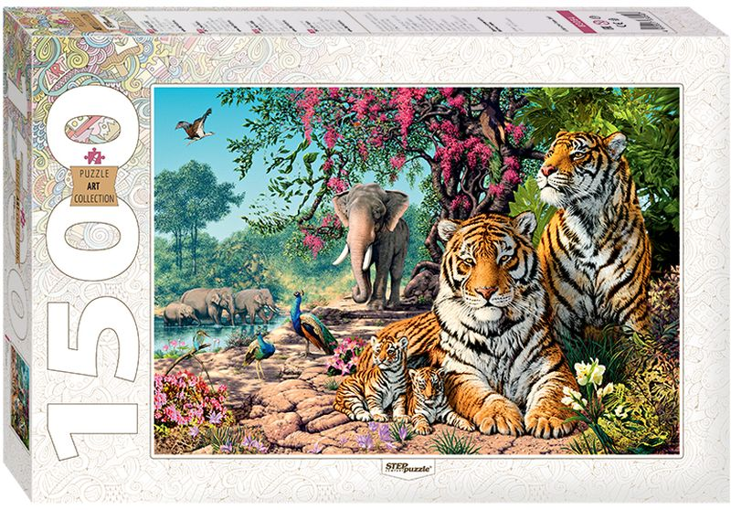 Step Puzzle Пазл Тигры