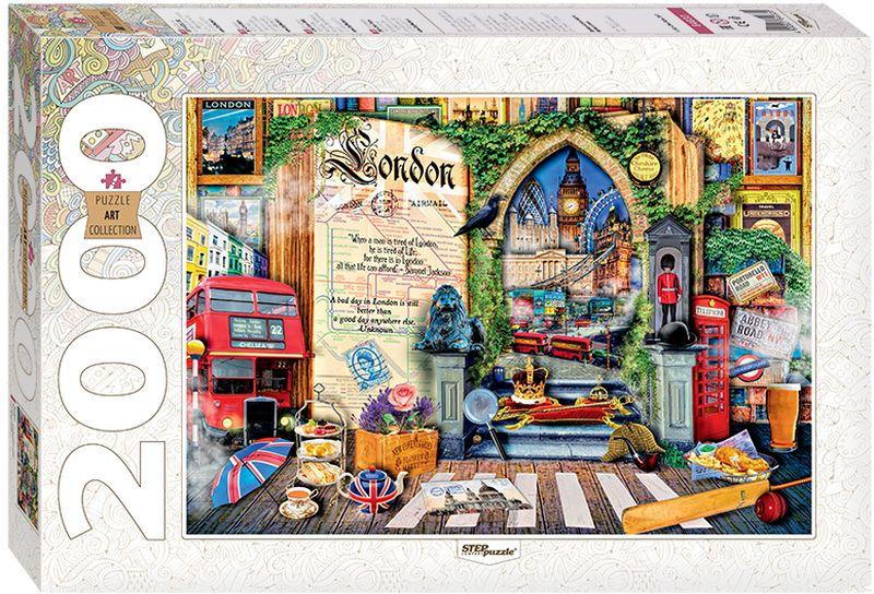 Step Puzzle Пазл Лондон Жизнь — открытая книга 2000 элементов