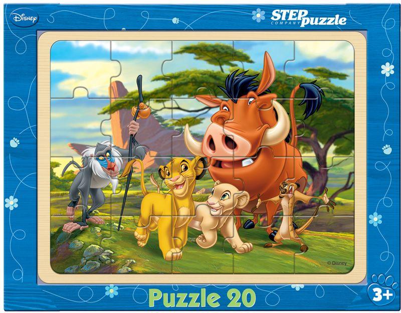 Step Puzzle Пазл для малышей Король Лев пазлы 54disneyсамолёты step puzzle эль чу над пирамидами