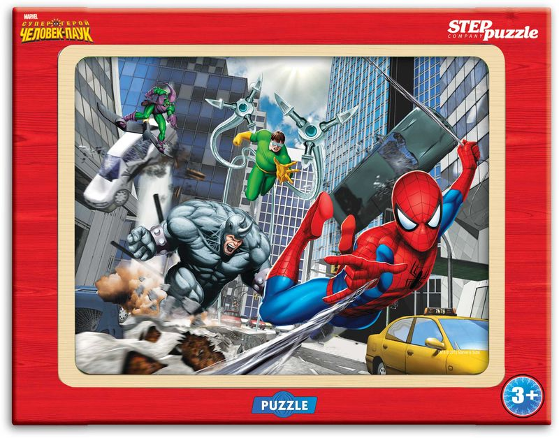 Step Puzzle Пазл для малышей Человек-паук пазлы crystal puzzle 3d головоломка вулкан 40 деталей