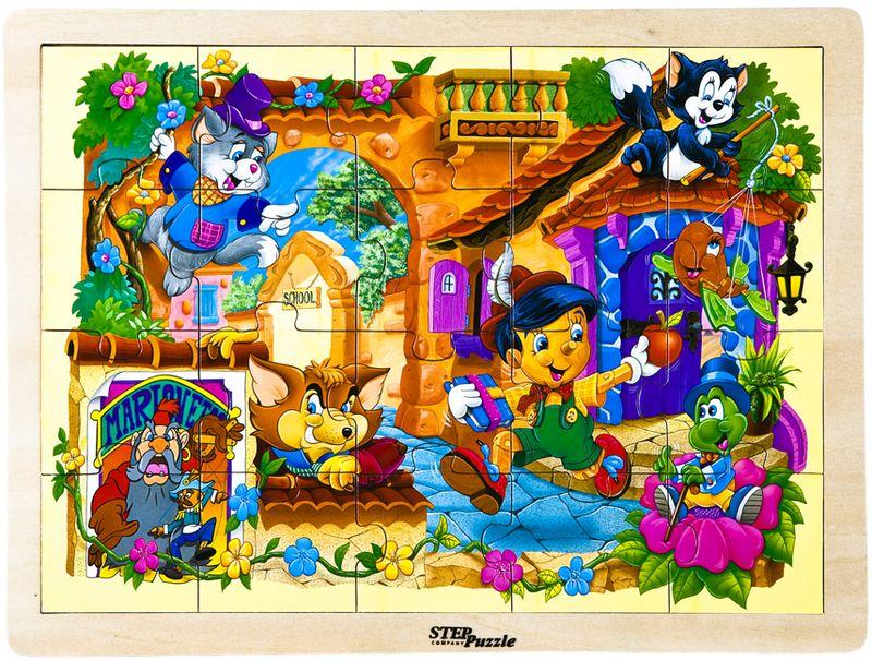 Step Puzzle Пазл для малышей Пиноккио развивающие деревянные игрушки пазл для малышей репка 4 в 1
