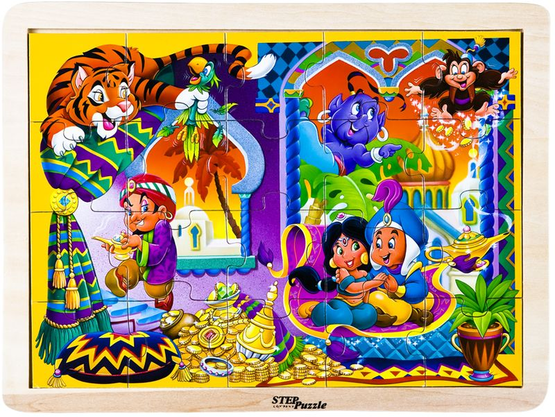 Step Puzzle Пазл для малышей Аладдин step puzzle пазл для малышей fisher price 91224