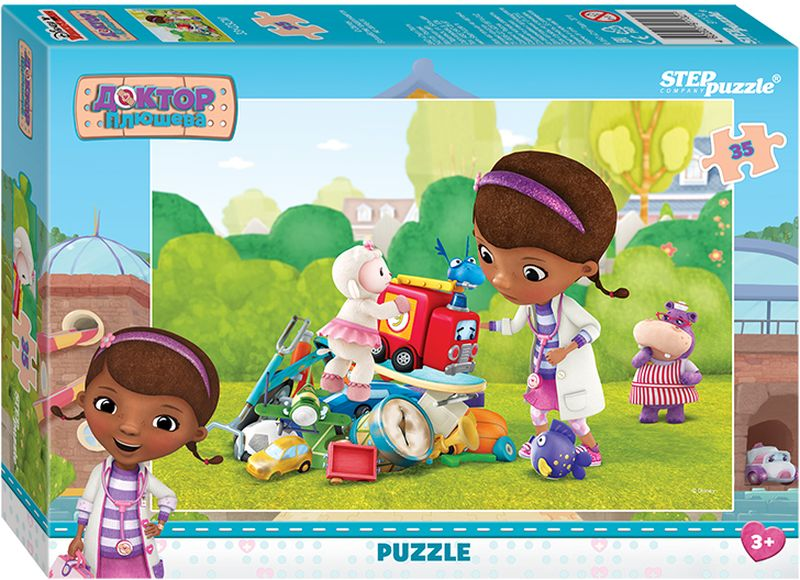 Step Puzzle Пазл для малышей Доктор Плюшева 91132 step puzzle пазл для малышей fisher price 91148