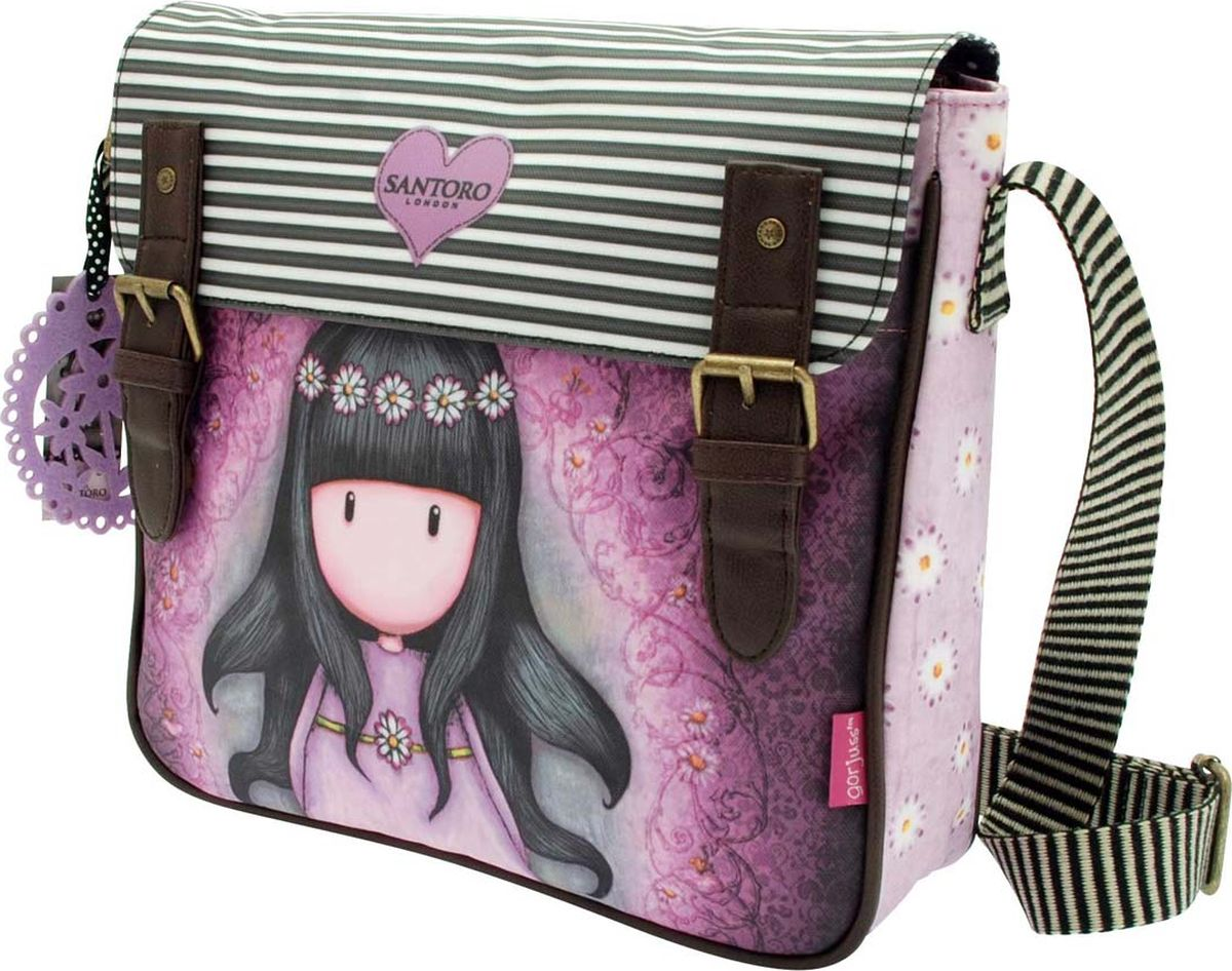 Santoro Сумка детская Oops a Daisy0012581Модная сумка с Gorjuss - лучший способ для переноски своих вещей!Каждая сумка выполнена вручную.Материал: Наружный: Полиэфир 100%, Подкладка: Полиэфир 100%.