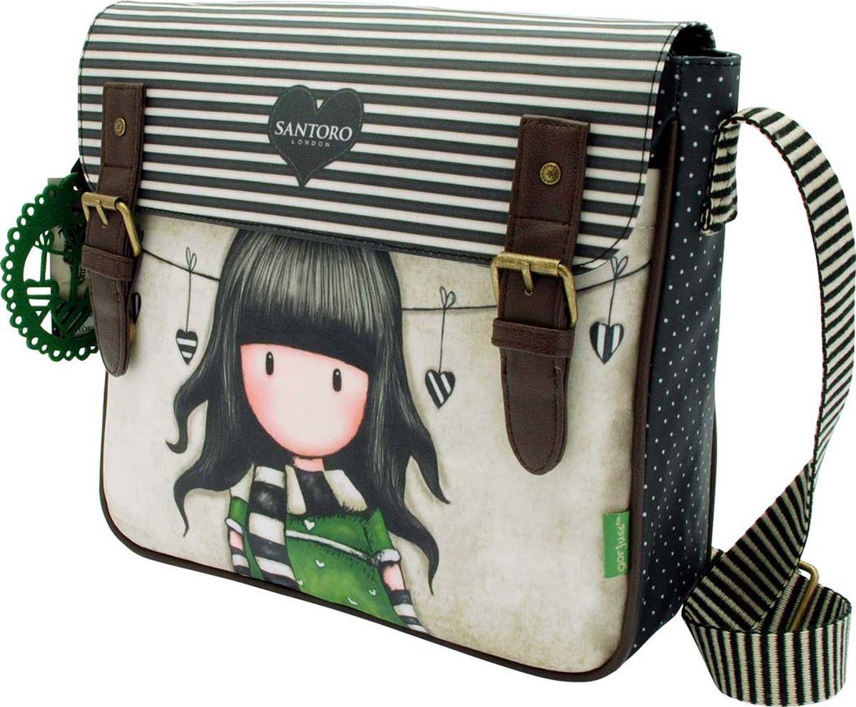 Santoro Сумка детская на плечо The Scarf0012642Модная детская сумка на плечо Santoro The Scarf - лучший способ для переноски своих вещей!Сумка The Scarf выполнена вручную.Материал: наружный: полиэфир 100%, подкладка: полиэфир 100%.