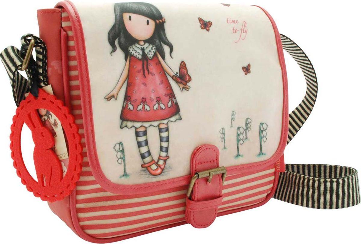 Santoro Сумка детская на плечо Time to Fly0013335Прекрасная детская сумка Time to Fly идеально подходит для всего! С регулируемым ремешком и кожаной отделкой с пряжкой, эта сумка имеет чувство современности, дополненное привлекательным оформлением. Откройте магнитный штифт, чтобы открыть внутреннее пространство для ежедневных вещей, а также дополнительный отсек с молнией и удобный карман для мобильного телефона. Сумка также обладает восхитительным чувственным прикрытием - мода для Gorjuss важна!Cумка Time to Fly сделана вручную.Материал:Наружный: 100% полиэстер, Покрытие: 100% ПВХ, Подкладка: 100% полиэстер, Обрезка: 100% полиуретан, Ремни: 100% полиэстер.