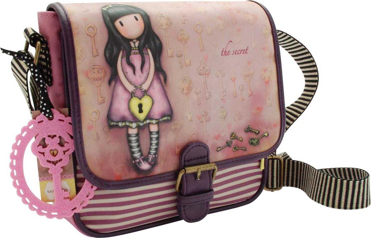 Santoro Сумка детская на плечо The Secret0013336Прекрасная сумка, которая идеально подходит для всего! С регулируемым ремешком и кожаной отделкой с пряжкой, эта сумка имеет чувство современности, дополненное привлекательным оформлением. Откройте магнитный штифт, чтобы открыть внутреннее пространство для ежедневных вещей, а также дополнительный отсек с молнией и удобный карман для мобильного телефона. Сумка также обладает восхитительным чувственным прикрытием - мода для Gorjuss важна!Каждая сумка сделана вручную.Материал:Наружный: 100% полиэстер, Покрытие: 100% ПВХ, Подкладка: 100% полиэстер, Обрезка: 100% полиуретан, Ремни: 100% полиэстер