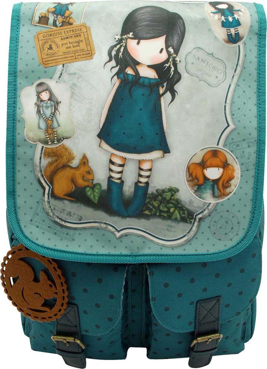 Santoro Рюкзак You Brought Me Love 00133670013367Рюкзак Santoro You Brought Me Love - очаровательный и функциональный рюкзак.Рюкзак можно носить с регулируемыми монохромными ремнями; имеет два передних кармана с элементами пряжки из искусственной кожи. Основной отсек содержит удобный карман на молнии и держатель для мобильного телефона.Обладая достаточным внутренним пространством для ежедневных вещей, он идеально подходит для школы, работы и посещений города. Мода Gorjuss важна для девушки на ходу!Рюкзак выполнен вручную.