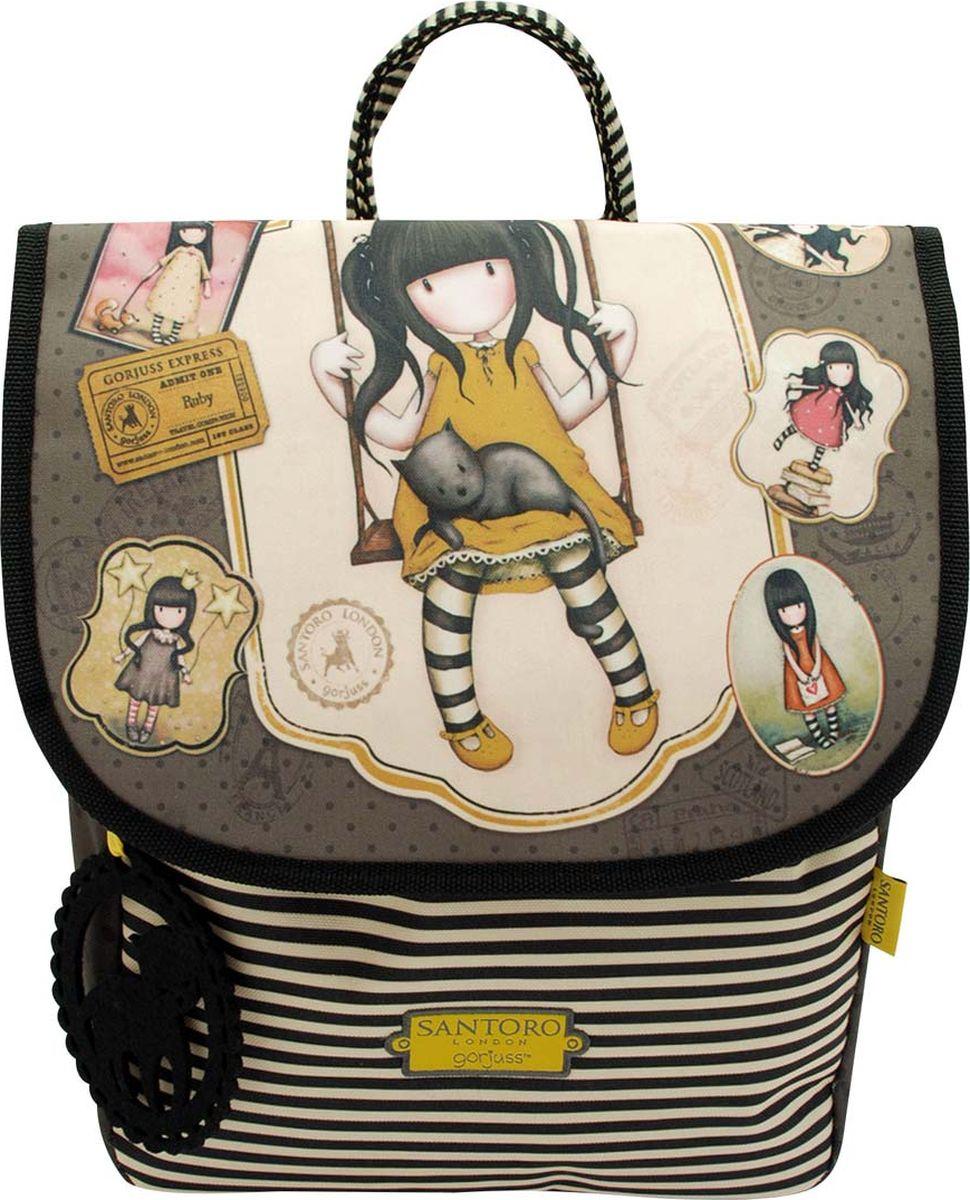 Santoro Мини-рюкзак детский Ruby Yellow0013369Очаровательный рюкзак, который идеально подходит для авантюристов!Основное отделение закрывается шнурком и содержит карман на молнии и держатель мобильного телефона. Имея обильное внутреннее пространство для повседневных вещей, отлично подходит для повседневного использования. Шикарный и миниатюрный, он наверняка станет любимым дополнением вашего гардероба!