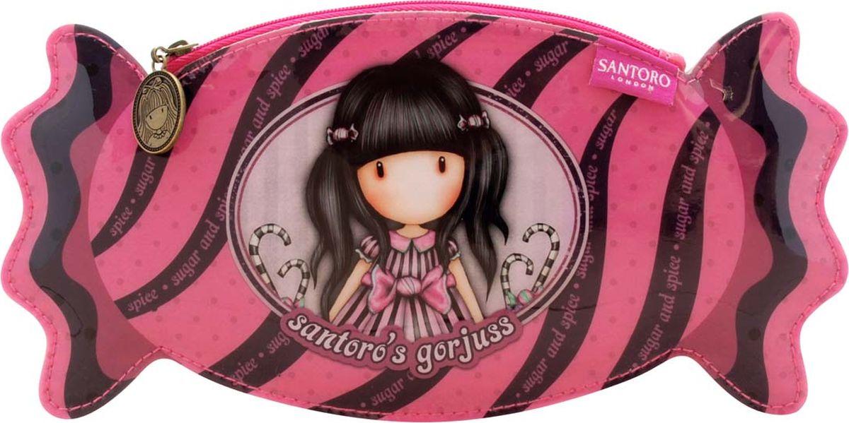 Santoro Пенал Sugar and Spice цвет розовый 00133740013374Самый сладкий дом для ручек и карандашей! Этот восхитительный футляр красиво изготовлен в форме вкусной конфетки. Симпатичный и современный пенал для хранения всех предметов первой необходимости!