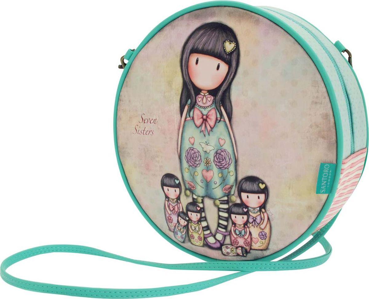 Santoro Сумка детская Seven Sisters 00133750013375Сумочка Gorjuss со съемным ремешком является отличным дополнением к любому гардеробу!Шикарная и уникальная, она обязательно подчеркнет ваш стиль!Сумка выполнена вручную.