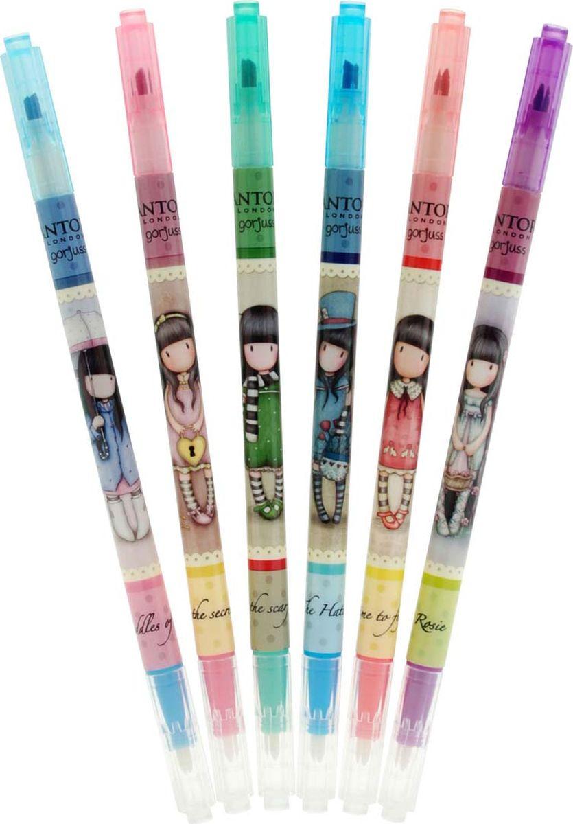 Santoro Набор маркеров 6 цветов0013383Набор маркеров Santoro - обязательное дополнение к любой коллекции канцелярских принадлежностей!Маркеры отлично подходят как для школы, так и для дома и офиса.