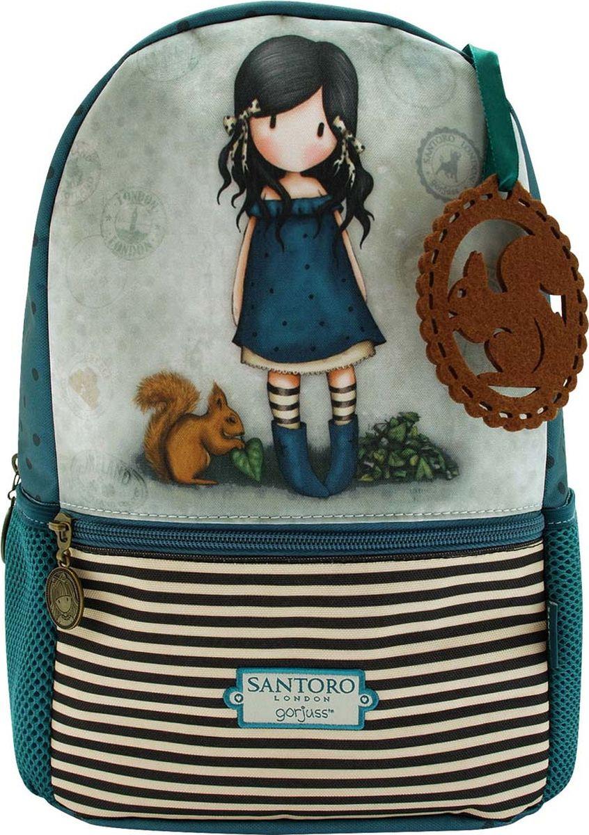 Santoro Рюкзак детский You Brought Me Love 00133870013387Небольшой, но очень удобный и функиональный рюкзак, который отлично подоходит для прогулок маленьких леди!Содержит карман на молнии снаружи, 2 боковых кармашка на сеточке и основной отсек.Каждый рюкзак выполнен вручную.Материал: Наружный: Полиэфир 100% Отделка: 100% Полиуретан