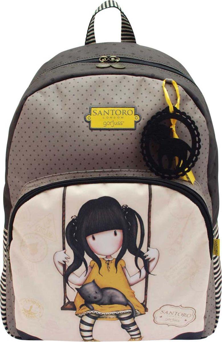 Santoro Рюкзак Ruby Yellow 00133880013388Функциональный и стильный рюкзак Santoro с элегантным рисунком идеально подходит для активных девушек.Рюкзак содержит отсек на молнии спереди, а также основной отсек - в нем имеются держатель для телефона и карман на молнии для хранения различных аксессуаров.Рюкзак выполнен вручную.