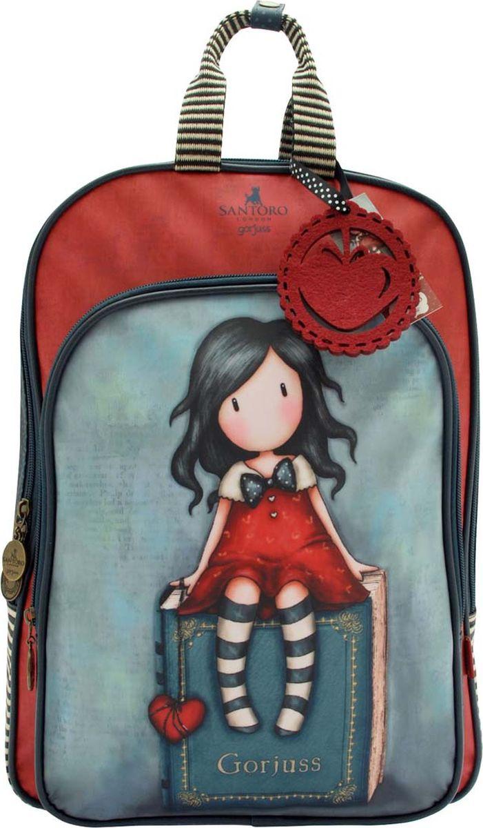 Santoro Рюкзак детский My Story0013703Утонченный, функциональный рюкзак, который шикарно выглядит.Имеет главное отделение на молнии, большое внутреннее пространство для ежедневных вещей, а также дополнительный карман на молнии и удобный держатель мобильного телефона.Идеально подходит для девушки на ходу. Идеально подходит для работы, учебы или занятых путешественников, рюкзак можно носить через мягкие регулируемые ремни.Сумка Gorjuss - самый стильный способ транспортировки вещей! Обязательный аксессуар для модниц!Каждый рюкзак Gorjuss выполнен вручную.Материал:Покрытие: 100% ПВХ Подкладка: 100% полиэстер. Отделка: 100% полиуретан. Ремни: 100% полиэстер.