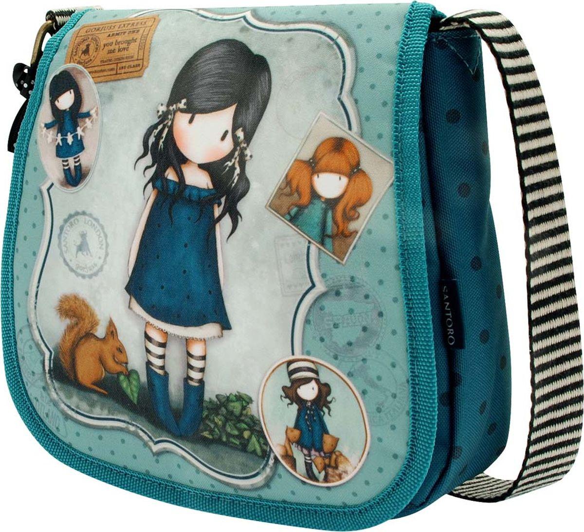Santoro Сумка детская на плечо You Brought Me Love0013820Классический сетчел - это восхитительно модный аксессуар.С регулируемым монохромным ремнем сумка может носиться на любой предпочтительной длине.Пряжки из искусственной кожи детализируют переднюю часть сумочки.Имеет два просторных отсека, дополнительный карман на молнии и держатель мобильного телефона для дополнительной функциональности.Материал: Наружный: Полиэфир 100%, Подкладка: Полиэфир 100%.
