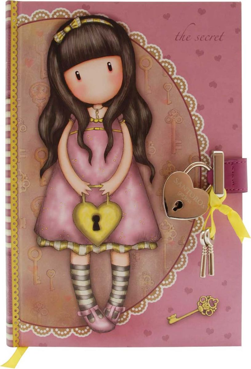 Santoro Блокнот The Secret 00133960013396Тише ... это секрет! Храните свои секреты в закрывающемся блокноте!Используйте замочек и ключ, чтобы открыть блокнот, а также ленточную закладку, чтобы никогда не потерять место!Канцелярские принадлежности Gorjuss идеально подходят для создания красивых мыслей, мечтаний и чувств!