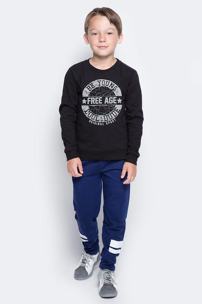 Свитшот для мальчика Free Age, цвет: черный. ZB 09207-B-2. Размер 146, 10 лет цена