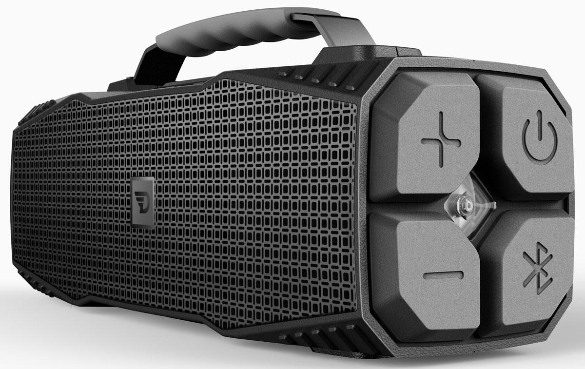 DreamWave Elemental, Graphite портативная Bluetooth-колонка15119316DreamWave Elemental - это высококлассная Bluetooth-аудиосистема с выходной мощностью 30 Вт и ультраярким светодиодным фонарем мощностью 110 люменов, который может освещать вам путь на расстоянии до 400 метров, а также способен подавать сигнал SOS. Устраивайте вечеринки на природе с вашими друзьями и наслаждайтесь музыкой весь день напролет благодаря встроенному аккумулятору емкостью 12 тысяч мАч. Сочетание передовых технологий и тончайших настроек звука позволяет Elemental передавать музыку во всей полноте, сохраняя ее первозданную глубину и ясность – так, как это задумывал исполнитель. Прочная конструкция, защита от воды/песка/пыли/снега уровня IPX5, компактный дизайн и надежная алюминиевая ручка для переноски позволят вам брать Elemental с собой, куда бы вы ни отправились. Более того, устройство поможет и в экстренных ситуациях. Премиальная Hi-Fi-колонка с мощностью 30 Вт;Светодиодный фонарь мощностью 110 люменов (режимы освещения и SOS);Защита от воды/песка/пыли уровня IPX5;Bluetooth CSR 4.0 + EDR, A2DP AVRCP, APTX;Аккумулятор 12000 мАч (повербенк);Работает до 16 часов подряд (7 часов на максимальной громкости);Звонки хэндз-фри, бесконтактная связь по NFC;USB-порт 5В/1А для подзарядки гаджетов;Звук Hi-Fi, защита от помех Выходная мощность 30 Вт;Bluetooth CSR 4.0 + EDR, A2DP AVRCP, APTX;Аккумулятор тип: литий-ионный;емкость: 12000 мАч;время работы: до 14 часов;Разное хэндз-фри, NFC;защита IPX5, защита от помех;USB-порт 5В/1А для подзарядки гаджетов.Как выбрать портативную колонку. Статья OZON Гид