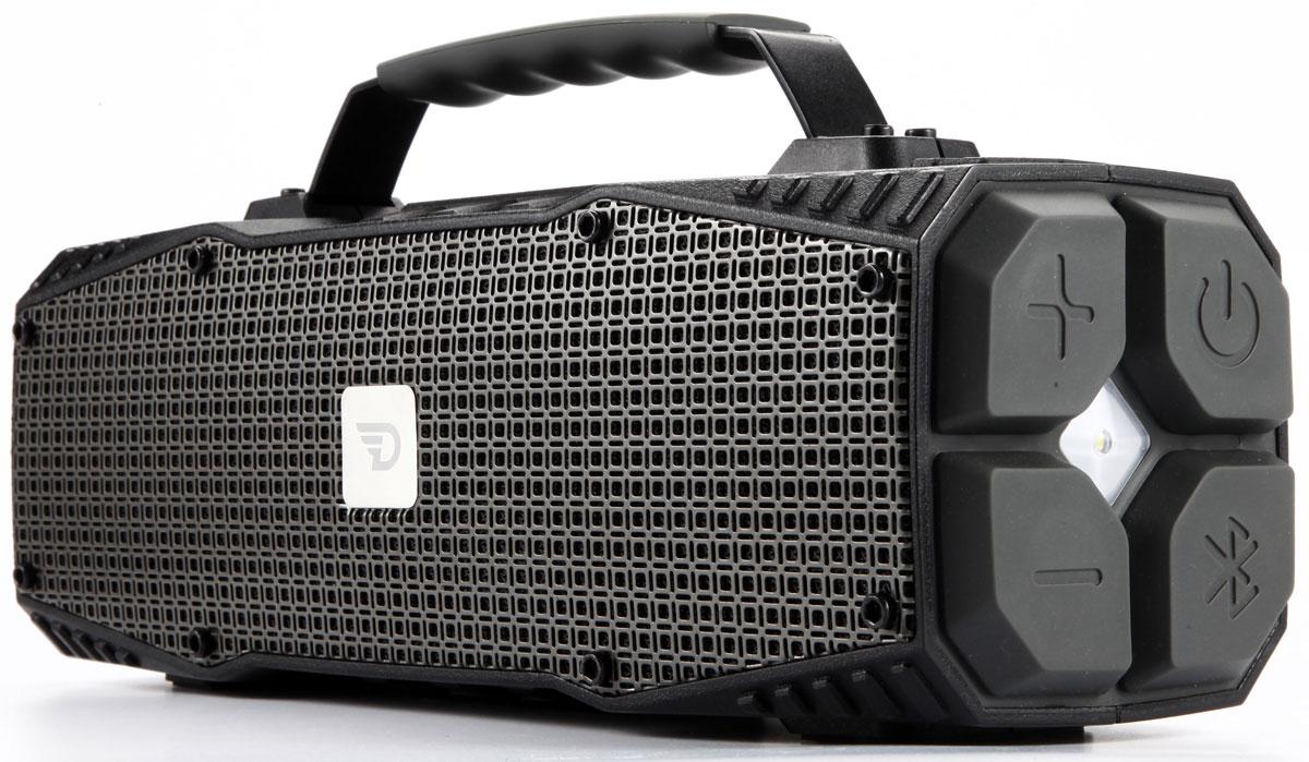 DreamWave Survivor, Graphite портативная Bluetooth-колонка15119470DreamWave Survivor является первым и единственным в мире устройством, объединяющим в себе портативную Bluetooth-колонку с выходной мощностью в 30 Вт и джамп-стартер (400 А / 12 В). Устраивайте вечеринки на природе с вашими друзьями и наслаждайтесь музыкой весь день на пролет благодаря встроенному аккумулятору емкостью 12 тысяч мАч. Благодаря сочетанию передовых технологий и тончайших настроек звука, Survivor способен передать музыку во всей полноте, сохраняя ее первозданную глубину и ясность – так, как это задумывал исполнитель. Когда пришло время выдвигаться в путь, а ваш автомобиль или лодка не заводятся, просто подключите Survivor к аккумулятору транспортного средства и воспользуйтесь джамп-стартером. Мощности последнего хватит, чтобы завести 7-литровый двигатель с напряжением 8В. Кроме этого Survivor оборудован ультраярким светодиодным фонарем мощностью в 110 люменов, который может освещать вам путь на расстоянии до 400 метров, а также способен подавать сигнал SOS. Надежная конструкция, защита от воды/песка/пыли/снега уровня IPX5, компактный дизайн и надежная алюминиевая ручка для переноски позволят вам брать Survivor с собой, куда бы вы ни отправились, кроме того устройство поможет в экстренных ситуациях. Премиальная Hi-Fi-колонка с мощностью 30 ВтДжамп-стартер на 400А для запуска электропитания транспортного средстваСветодиодный фонарь мощностью в 110 люменов (режимы освещения и SOS)Защита от воды/песка/пыли уровня IPX5Bluetooth CSR 4.0 + EDR, A2DP AVRCP, APTXАккумулятор 12000 мАч (повербенк)Работает до 16 часов подряд (7 часов на максимальной громкости)Звонки хэндз-фри, бесконтактная связь по NFCUSB-порт 5В/1А для подзарядки гаджетовЗвук Hi-Fi, защита от помех Выходная мощность 30 ВтBluetooth CSR 4.0 + EDR, A2DP AVRCP, APTXАккумулятор тип: литий-ионныйемкость: 12000 мАчвремя работы: до 14 часовРазное хэндз-фри, NFCджамп-стартер,защита IPX5, защита от помехUSB-порт 5В/1А для подзарядки гаджетов
