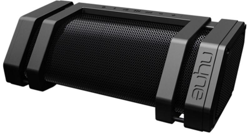 Nyne Rock, Black портативная Bluetooth-колонка71000237Самая громкая и самая большая портативная Bluetooth-колонка в мире. Bluetooth 4.0 с радиусом действия 30 метров;Звуковая система 2.1 наилучшего качества, 60 Вт;~12 часов работы от встроенного аккумулятора;Адаптер питания со штекерами на все страны мира;Защита от воды IPX3;Скрытая ручка для переноски;Микрофон для громкой связи;NFC для соединения в одно касание;Мобильное зарядное устройство;AUX-вход и AUX-выход; Подключение: Bluetooth 4.0, 3,5 мм Aux-in, Aux-out для Daisy Chaining, NFC;Питание: аккумулятор (время работы ~12 ч);Аудио система 2.1 с активными динамиками (2 ВЧ, 2 СЧ, сабвуфер);Дополнительно: IPX3,встроенный микрофон, встроенный Power Bank, встроенная ручка для переноски, поддержка 4 типов сетевых розеток, панель управления с подсветкой, индикатор уровня заряда.