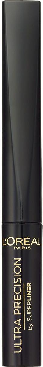LOreal Paris Подводка для глаз Суперлайнер, черная, 1,5 мл113722Суперлайнер от L'Oreal Paris – классическая жидкая подводка с удобным и нежным аппликатором-кисточкой, который обеспечивает четкую и ровную линию. Насыщенный цвет держится на протяжении всего дня, легко наносится и не растекается.