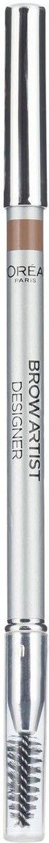 LOreal Paris Карандаш для бровей Brow Artist, оттенок 301, светло-коричневый, 5 гA6505903Профессиональный карандаш для бровей BROW ARTIST DESIGNER от LOREAL PARIS в ультра-современном дизайне. Точеный грифель идеально прокрашивает и подчеркивает изгиб бровей, а мягкая щеточка моделирует форму, придавая выразительный характер взгляду.