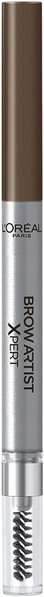 L'Oreal Paris Механический карандаш для бровей Brow Artist Xpert, Оттенок 105, Коричневый maybelline мастер формы карандаш для бровей светло коричневый