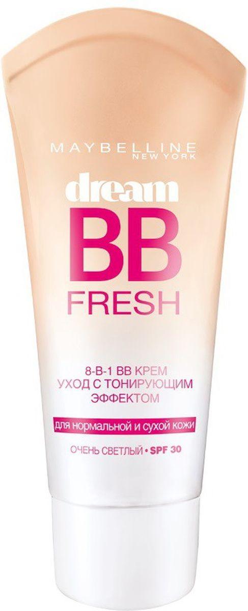"""Maybelline New York BB Крем """"Dream Fresh, Мгновенное сияние"""", выравнивающий с тонирующим эффектом, очень светлый, 30 мл"""