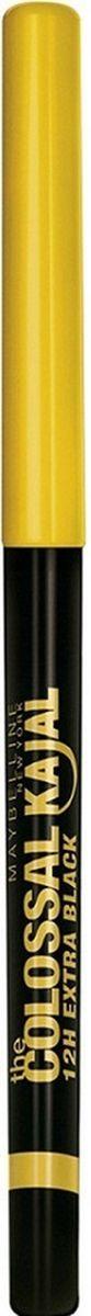 Maybelline New York Cтойкий лайнер для глаз Colossal Kajal,экстрачерный 12часов,B2450102Подходит для внутреннего и внешнего века. Стойкость 12 часов.