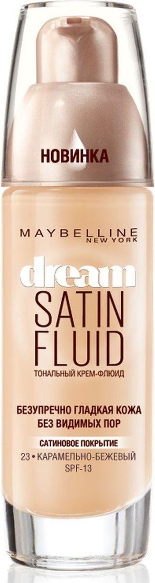 Maybelline New York Тональный крем-флюид для лица Dream Satin Fluid, не забивает поры, оттенок 23, Карамельно-Бежевый, 30 млB2547704