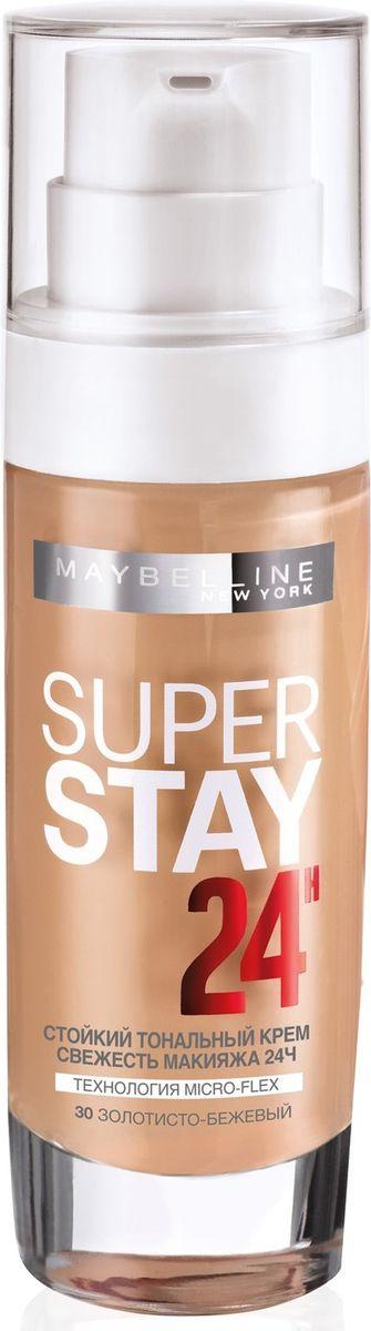 Maybelline New York Суперстойкий Тональный Крем SUPERSTAY24, оттенок 30, золотисто-бежевый, 30 млB2842100Стойкость 24 часа. Благодаря технологии Микро-флекс и пигментам свежести новый тональный крем выдерживает прикосновения рук, телефонные звонки и непогоду. Суперстойкое покрытие, которое остается безупречным весь день. Данный оттенок подходит темной коже с нейтральным подтоном.