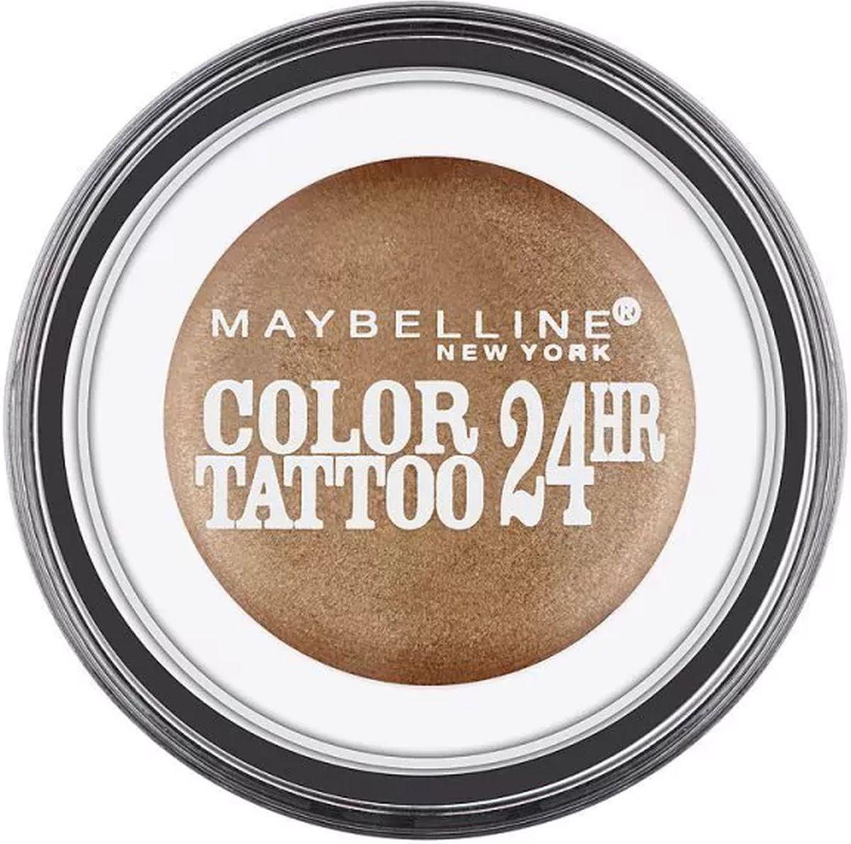 Maybelline New York Стойкие тени для век Color Tattoo 24 часа, оттенок 102 Мерцающая Фантазия, 4 млB2760600Технология тату-пигментов создает яркий, супернасыщенный цвет. Крем-гелевая текстура обеспечивает ультралегкое нанесение и стойкость на 24 часа.