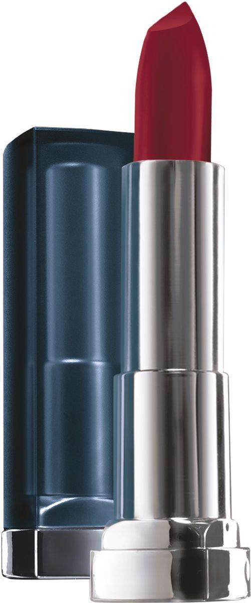 Maybelline New York Увлажняющая помада для губ Color Sensational Матовое Искушение, оттенок 968 Роскошный рубин, 4