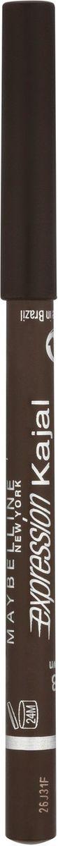 Maybelline New York Карандаш для глаз Expression Kajal, оттенок 38, коричневый,1,14 гB1851412Уникальная мягкая водостойкая формула карандаша обеспечивает легкое и тонкое нанесение для стойкого макияжа на весь день. Карандаш для глаз подходит даже для внутренней части века. Создай четкий контур для выразительных глаз!9 оттенков