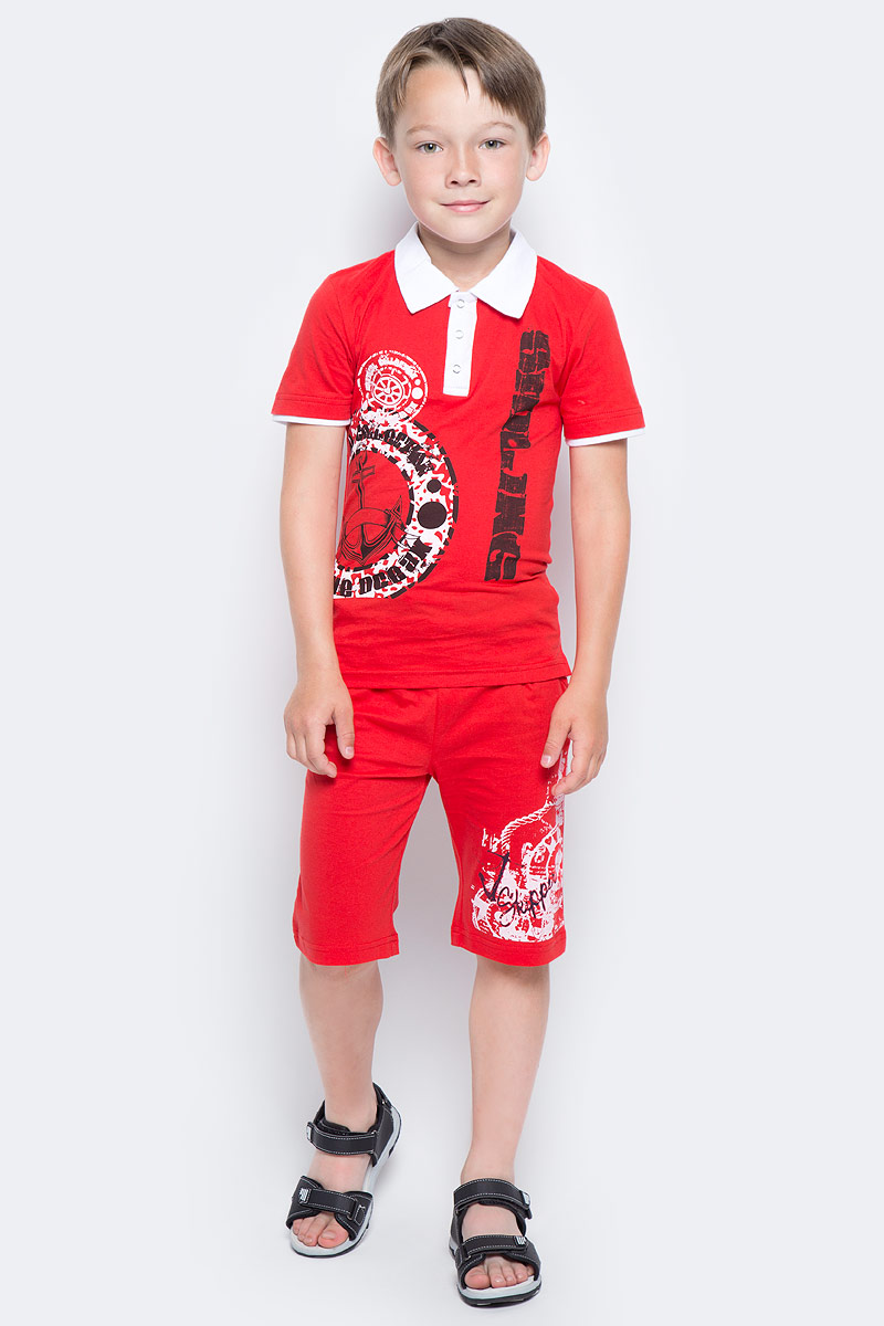 Шорты для мальчика LeadGen, цвет: красный. B212015907-171. Размер 104B212015907-171Шорты для мальчика LeadGen выполнены из натурального хлопкового трикотажа. Модель стандартной посадки с карманами на талии дополнена эластичной резинки со шнурком.